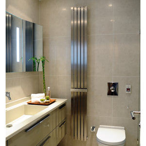 Idaho Brushed Stainless Steel Designer Radiator - Bathroom Trend