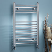 Load image into Gallery viewer, Straight k rail 22mm round heated towel rails in various sizes - Bathroom Trend