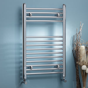Straight k rail 22mm round heated towel rails in various sizes - Bathroom Trend