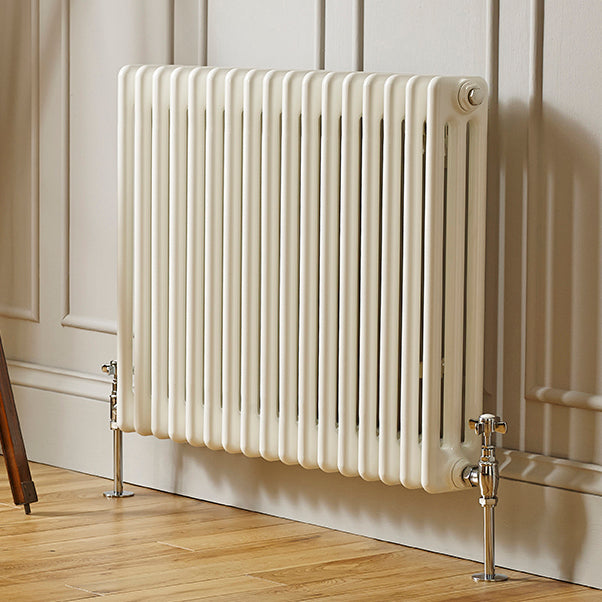 Laser Klassic White Traditional horizontal 6 Column Radiators - Bathroom Trend