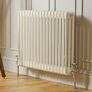 Laser Klassic White Traditional horizontal 4 Column Radiators - Bathroom Trend