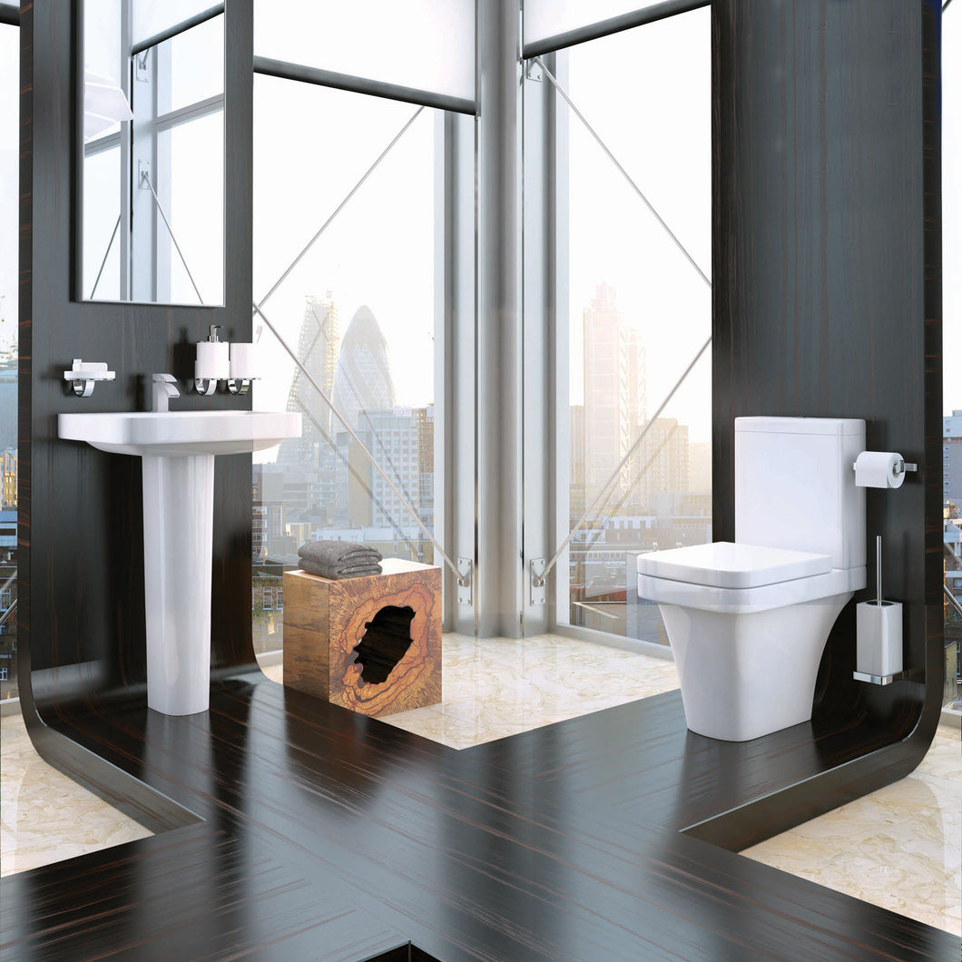 Sicily four piece bathroom toilet and basin set - Bathroom Trend