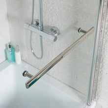 Load image into Gallery viewer, L shaped right handed shower bath with shower screen - Bathroom Trend