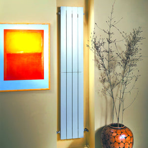 Vermont Hi White Vertical Designer Radiator - Bathroom Trend