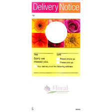 Delivery Notice Door Tag