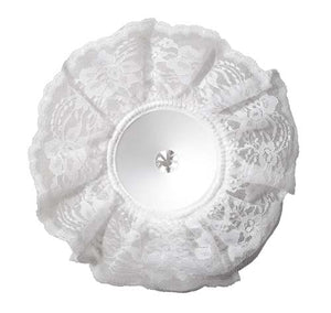 "8"" LOMEY® Bouquet Collar, White Lace"