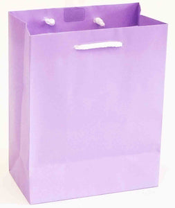 "5.5 x 10.5 x 13"" Gift Bag - Solid Lavender"