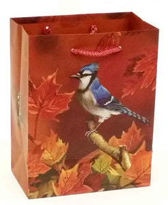"4 x 7 x 9"" Blue Jay Gift Bag"