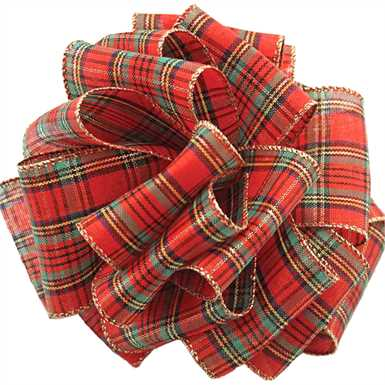 Wired Traditional Plaid Ribbon