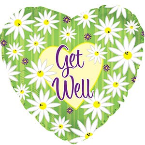"18"" Get Well Soon Daisy Balloon"