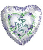 "18"" Happy Mother's Day Violets and Greens Balloon"