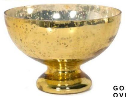 Gold Glass Mercury Bowl