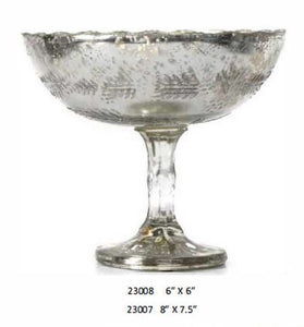 Glass Antique Silver Bowl