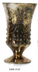 Burnt Gold Mercury Fleur de Lis Loving Cup