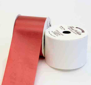 "4"" x 100 yds Floral Satin - Red"