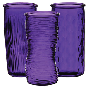 "9 3/4"" Rose Vase Assortment Pk/12"