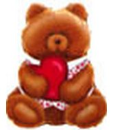 "24"" Teddy Bear Holding Heart Balloon"