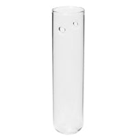 "4"" Glass Hanging Tube 12/bx"
