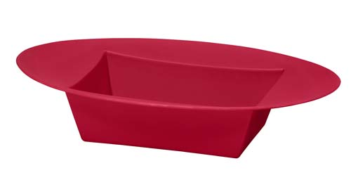 ESSENTIALS™ Oval Bowl, Red - pk/12