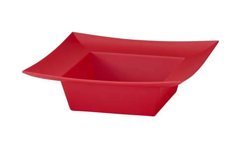 ESSENTIALS™ Square Bowl, Red - pk/12