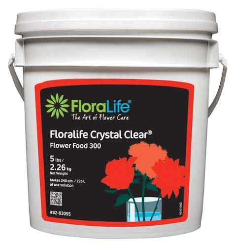 Floralife CRYSTAL CLEAR® Flower Food 300 Powder, 5 lb.
