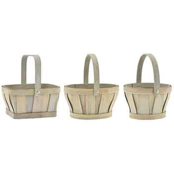 Assorted Grey Wash WDC Baskets
