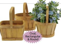 Assorted Natural Woodchip Baskets