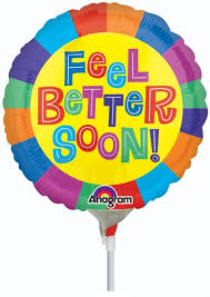 "4"" Pre-Inflated Feel Better Soon Balloon"