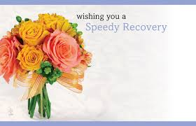 Enclosure Card - Wish You A Speedy Recovery  - Yellow Bouquet