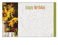 Happy Birthday Sunflower Enclosure Card