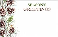 Season's Greetings Pine Cones Enclosure Card