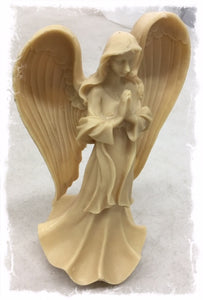 Bisque Resin Praying Angel