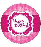"18"" Perfect Pink Happy Birthday Foil Balloon"