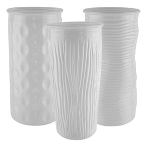 "9 3/4"" Rose Vase Assortment - White"