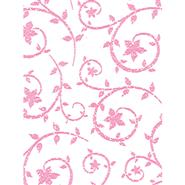 "30"" Deco Swirl Paper Roll - Hot Pink"