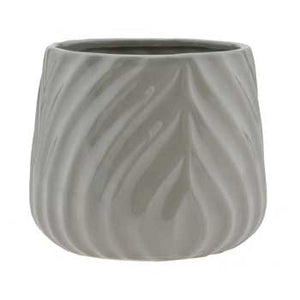 "5.75"" Round Taupe Ceramic Pot"
