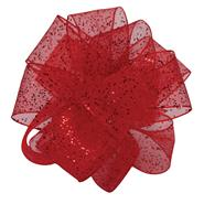 "Flash, Wired Edge 5/8"" Ribbon - Red"