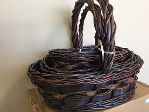 Oval Willow Basket Set of 3