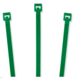 "Nylon Cable Ties - 8"", Green"