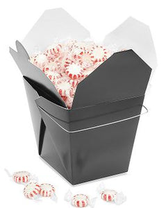 Chinese Take-Out Boxes - 2 Quart, Black