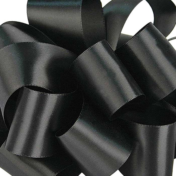 #9 Double Face Satin Ribbon - Black