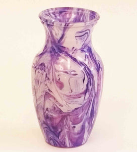 "9.2"" Bouquet Vase - Purple Swirl"