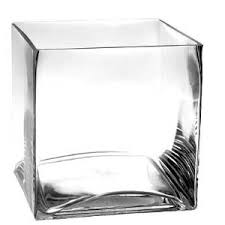 "4.75"" x 4.75"" Clear Glass Cube"