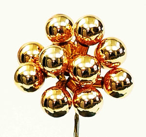 25mm Glass Balls - Gold