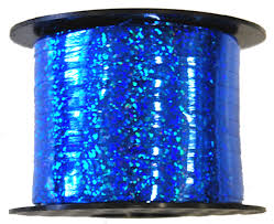 Curl Ribbon - Holographic Royal Blue