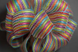 #9 Multi Stripe Sheer Wired Ribbon
