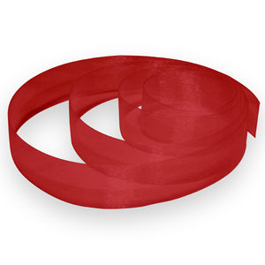 "7/8"" Organza Ribbon - Red"