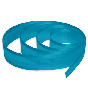 "7/8"" Satin Edge Organza Ribbon - Blue"