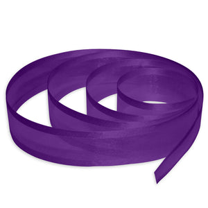 "5/8"" Satin Edge Organza Ribbon - Purple"