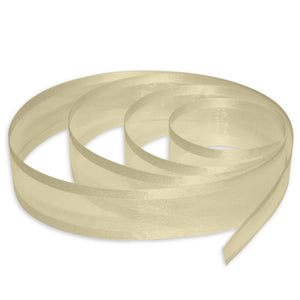"5/8"" Satin Edge Organza Ribbon - Ivory"